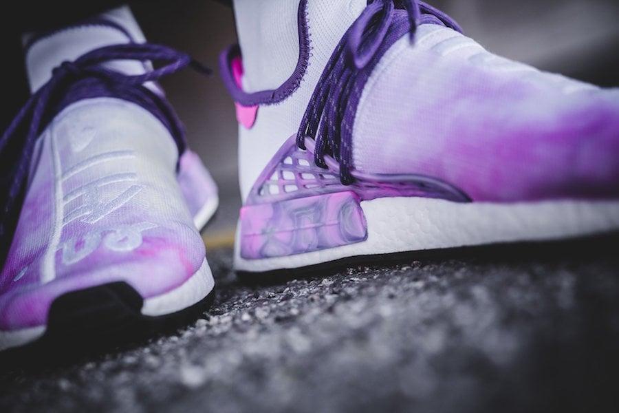 Pharrell adidas NMD Hu Trail Holi Pink Glow On Feet