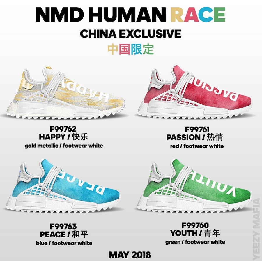 Pharrell adidas NMD Human Race China Exclusive Release