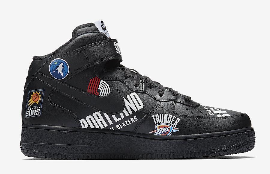 Supreme NBA Nike Air Force 1 Mid Black AQ8017-001