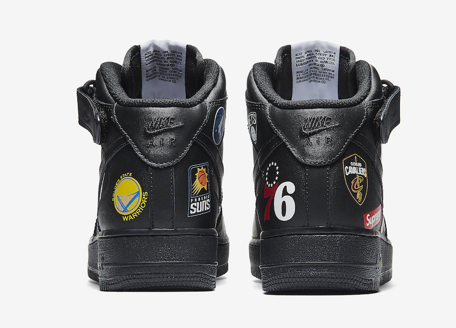 Supreme NBA Nike Air Force 1 Mid Black AQ8017-001