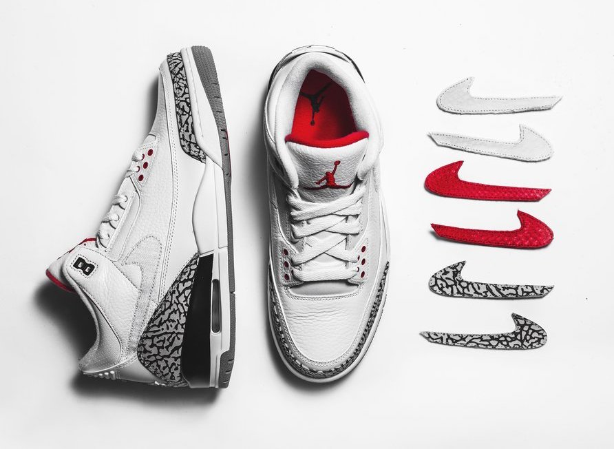 The Shoe Surgeon Air Jordan 3 JTH Swoosh Logos