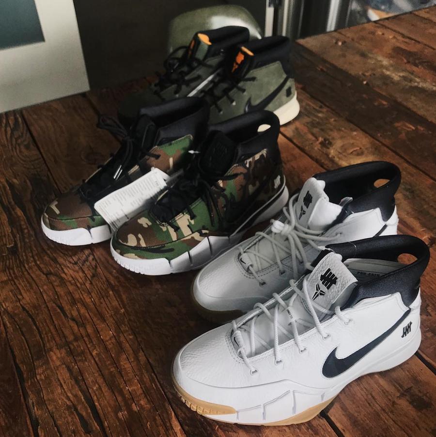 Undefeated Nike Kobe 1 Protro Olive Green Orange
