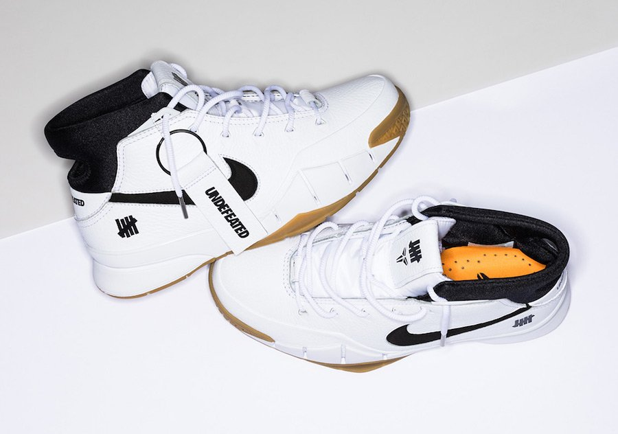 Undefeated Nike Kobe 1 Protro White Gum Release Date