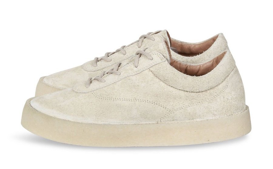 Yeezy Chalk Thick Snaggy Suede Crepe Sneaker
