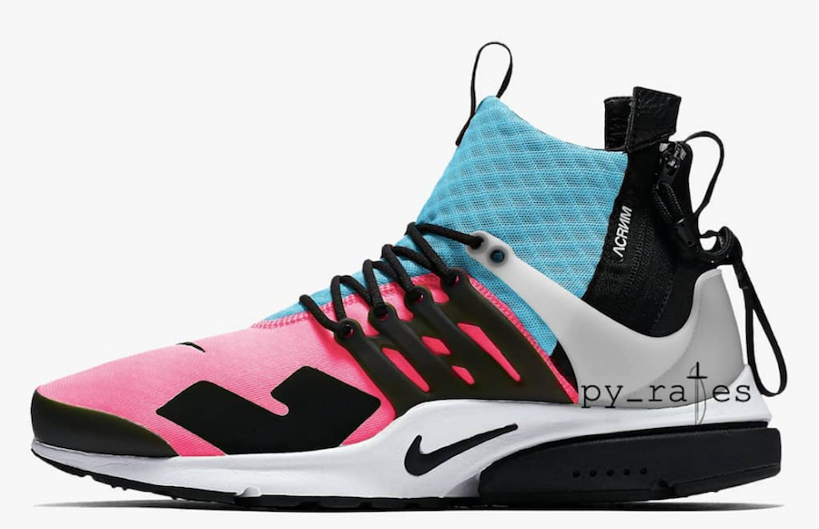 purchase cheap 6620f b2831 Acronym Nike Air Presto Mid Racer Pink Photo Blue Release Date