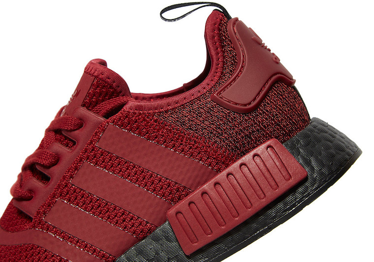 adidas NMD R1 Black Boost Deep Red