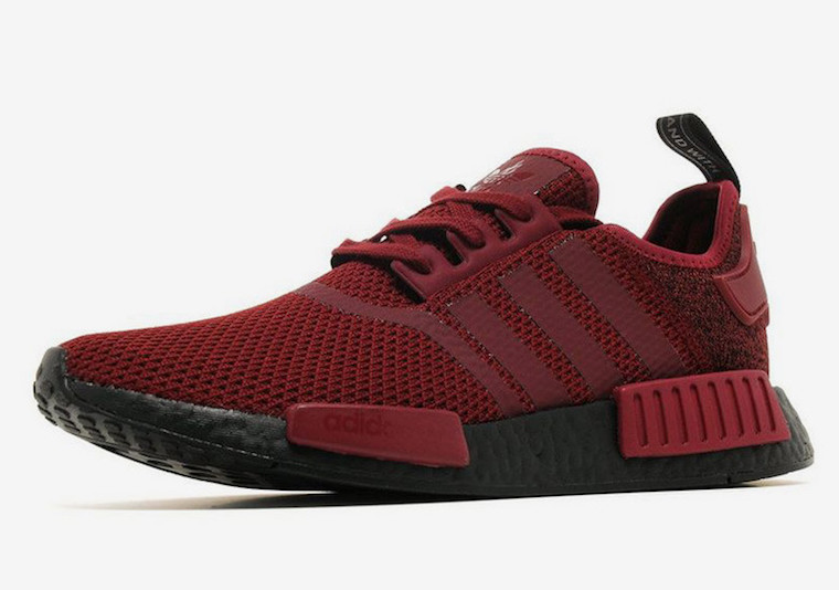 0a34388ff adidas NMD R1 Black Boost Deep Red