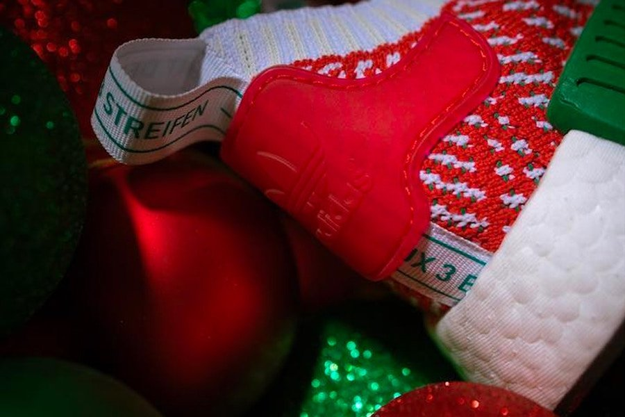adidas NMD R1 STLT Christmas Red White Green
