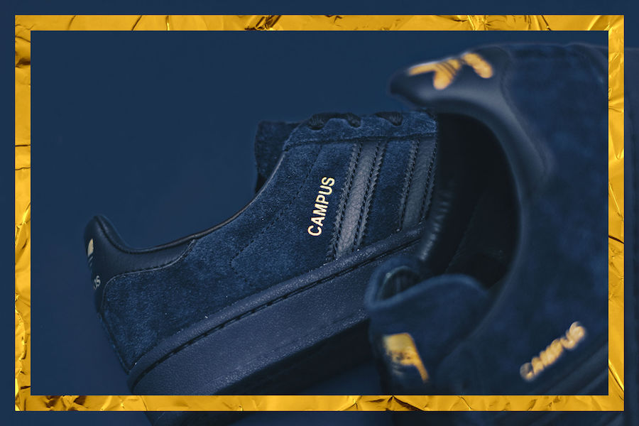 adidas Originals Navy Gold Pack Samba Campus