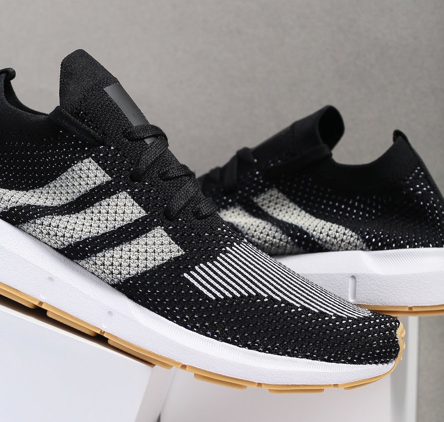 adidas Swift Run Primeknit Black White Gum CQ2891