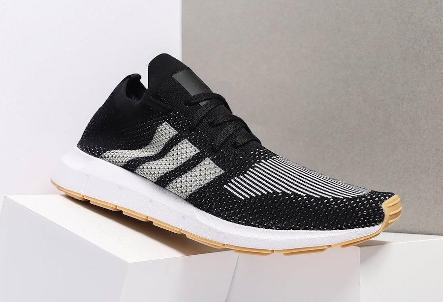 ... adidas Swift Run Primeknit Black White Gum CQ2891 ... a7bac1aa6