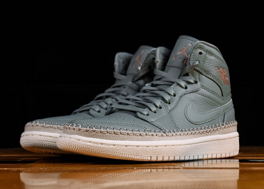 Air Jordan 1 High Premium Grey Green AH7389-315