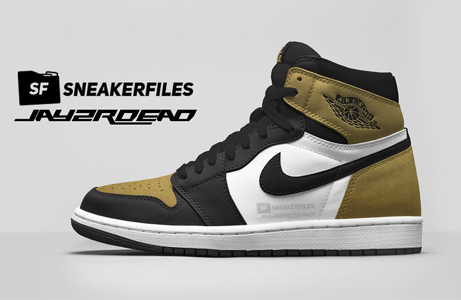 Air Jordan 1 Leather Gold Toe