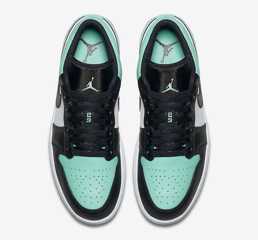 Air Jordan 1 Low Emerald Rise 553558-117