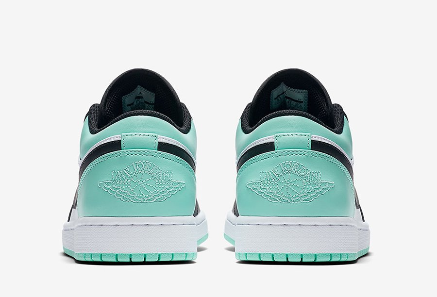 166fa06c4ac Air Jordan 1 Low Emerald 553558-117 Grey 553558-110 | SneakerFiles