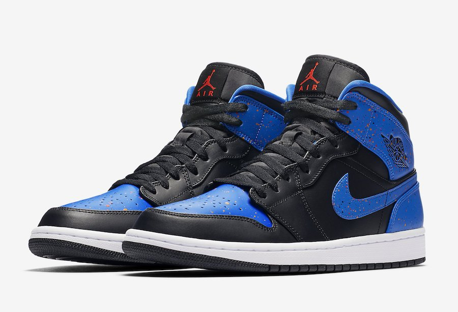 Air Jordan 1 Mid Royal Paint Splatter 554724-048