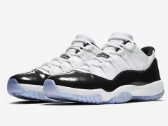 Air Jordan 11 Low Easter White Emerald Rise Black 528895-145