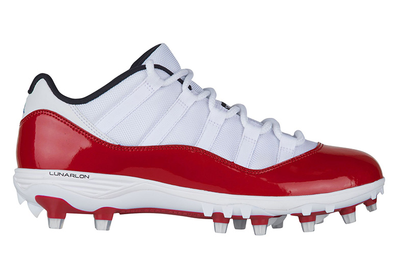 Air Jordan 11 Low Red White TD Cleats