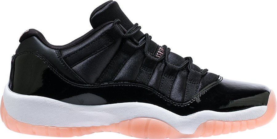 Air Jordan 11 Low Retro GS Black Bleached Coral White 580521-013