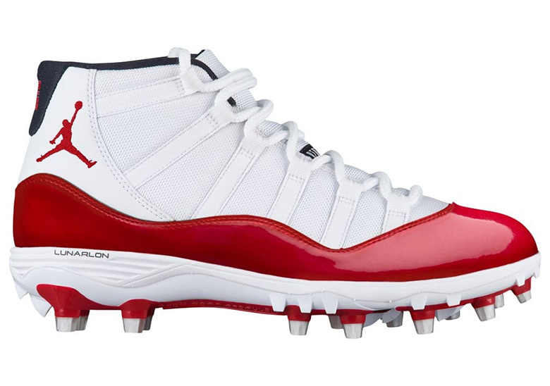 Air Jordan 11 Red White TD Cleats