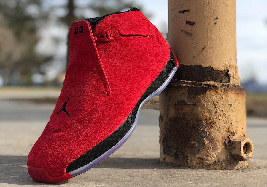 Air Jordan 18 Gym Red Toro Black AA2494-601