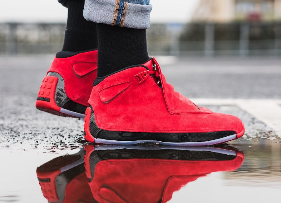 Air Jordan 18 Gym Red Toro On Feet