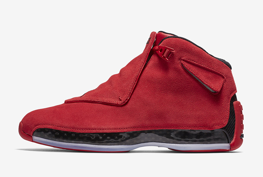 Air Jordan 18 Toro Gym Red Black AA2494-601