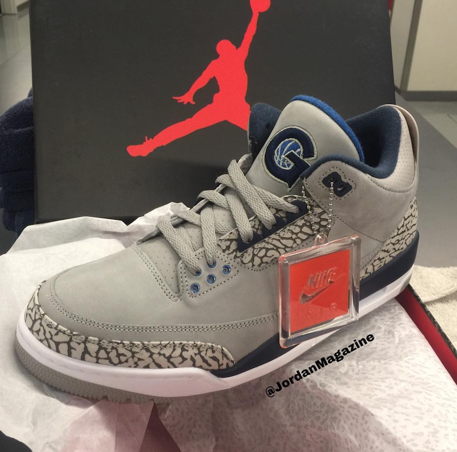Air Jordan 3 Georgetown Hoyas PE