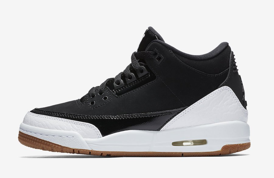 Air Jordan 3 GS Black White Gum Release Date
