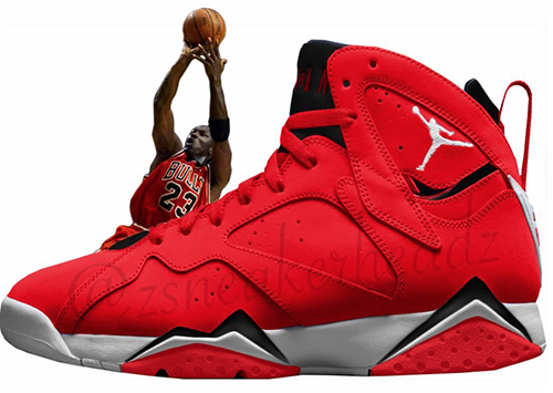 Air Jordan 7 Fadeaway University Red Release Date