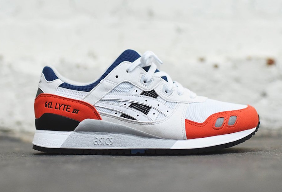 Asics Gel Lyte III White Blue Red