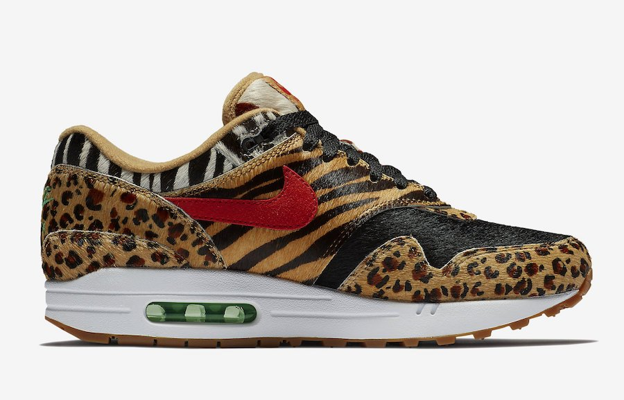 atmos Nike Air Max 1 Animal Pack AQ0928-700 Release Date