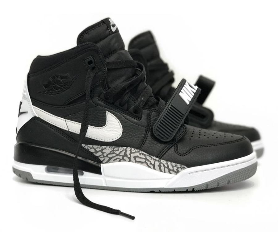 Don C x Air Jordan Legacy 312 Black White