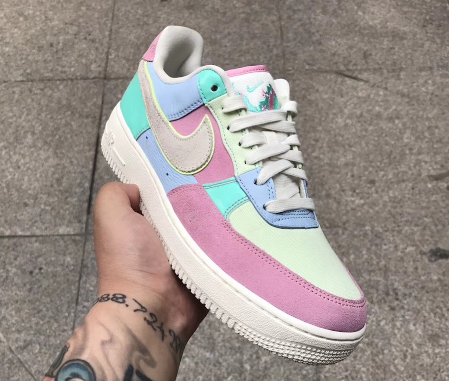 finest selection 44628 c8e52 Nike Air Force 1 Low Easter Egg AH8462-400 2018 | SneakerFiles