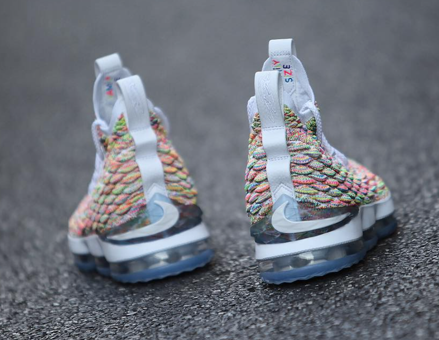 Fruity Pebbles Nike LeBron 15 White 897648-900