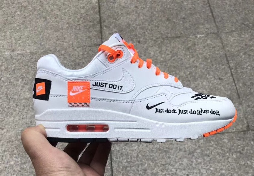 a9e2ea4a7b80 Nike Air Max 1 Just Do It White Orange