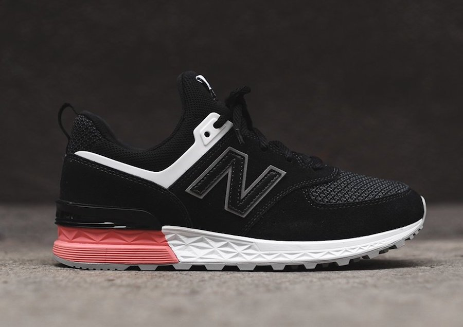 black and pink new balance 574