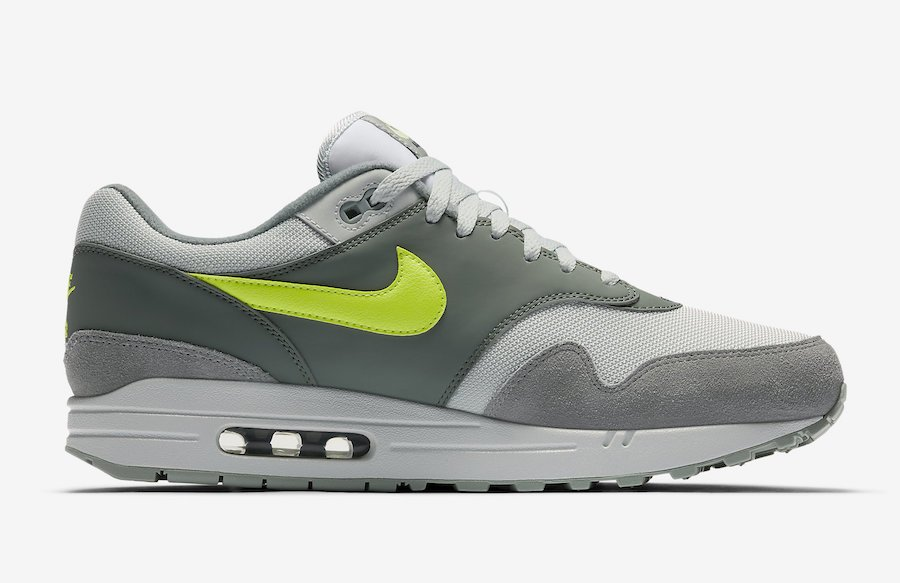 Nike Air Max 1 Grey Volt Swoosh AH8145-300
