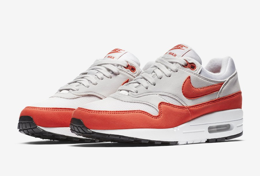 new styles 09f17 174ab Nike Air Max 1 Habanero Red 319986-035