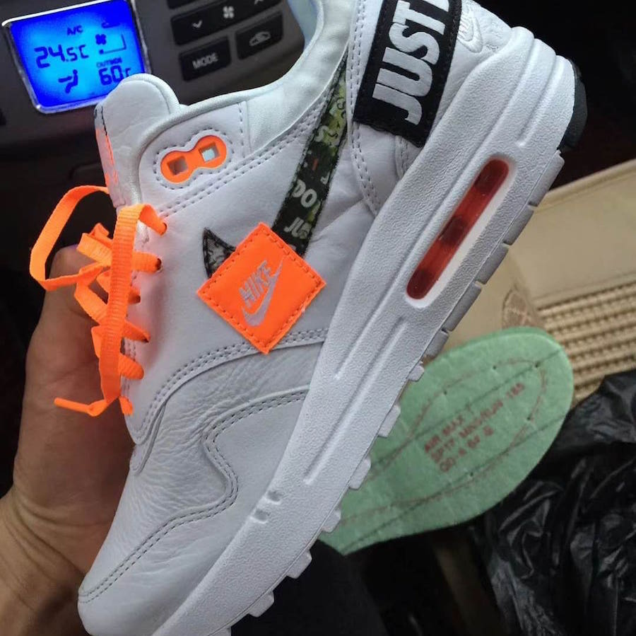 Nike Air Max 1 Just Do It White Orange