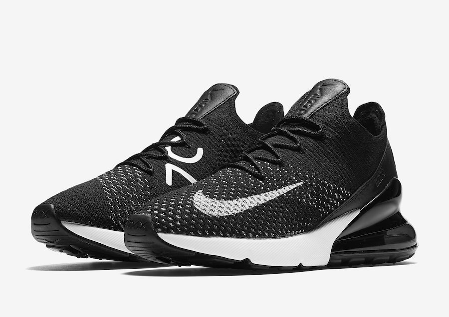 Nike Air Max 270 Flyknit Black White AH6803-001