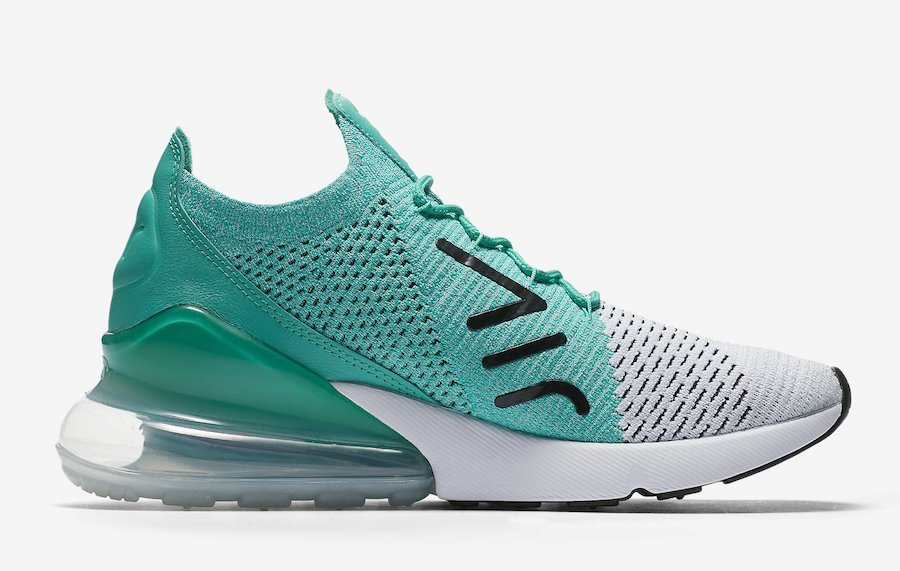 Nike Air Max 270 Flyknit Clear Emerald AH6803-300