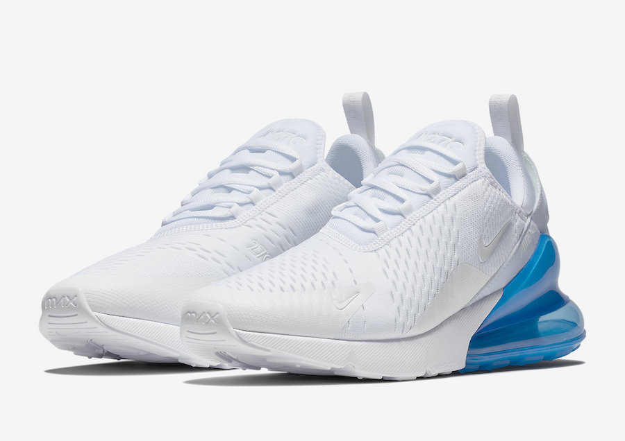 Nike Air Max 270 White Photo Blue Ah8050 105 Sneakerfiles