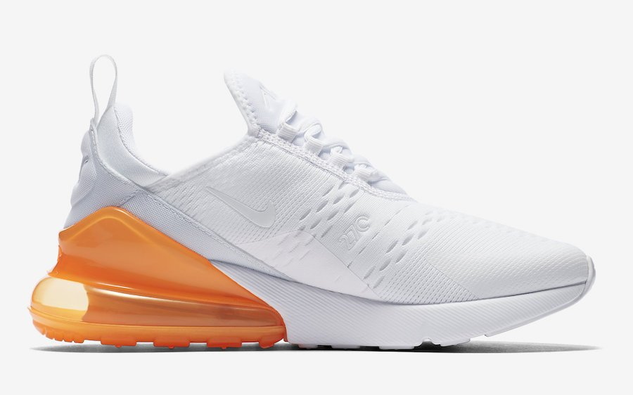 Nike Air Max 270 White Total Orange AH8050-102