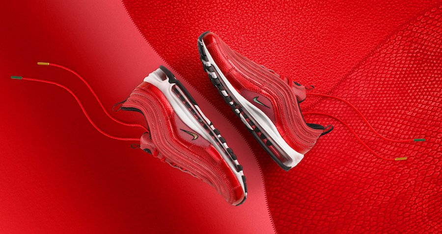 Nike Air Max 97 CR7 University Red Portugal Patchwork AQ0655-600