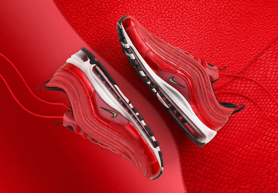 c4dbd065cda9ff Nike Air Max 97 CR7 University Red Portugal Patchwork AQ0655-600