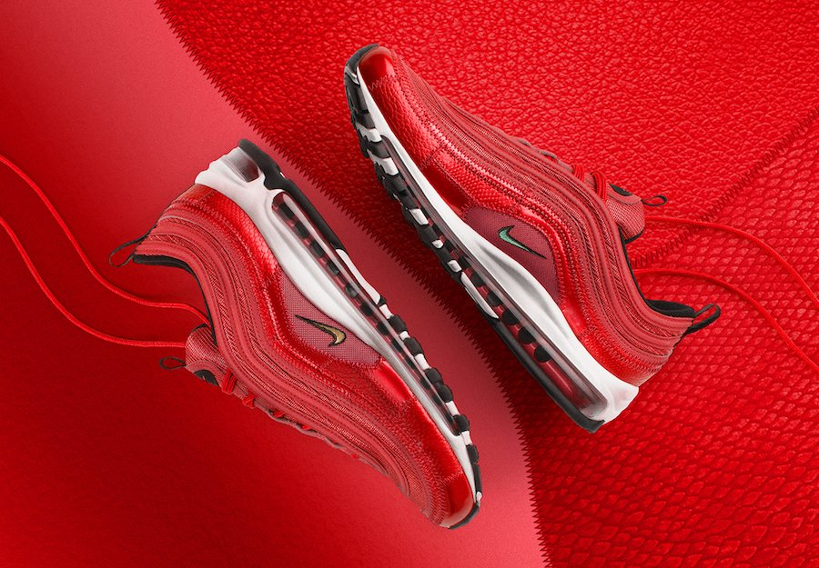 57548611c16 Nike Air Max 97 CR7 University Red Portugal Patchwork AQ0655-600