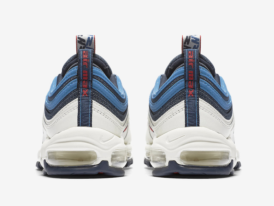 Nike Air Max 97 Obsidian University Red Sail Blue Nebula AQ4126-400