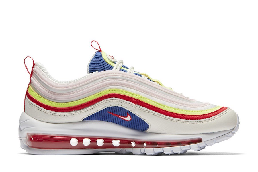 Nike Air Max 97 SE Corduroy White Blue Red Yellow