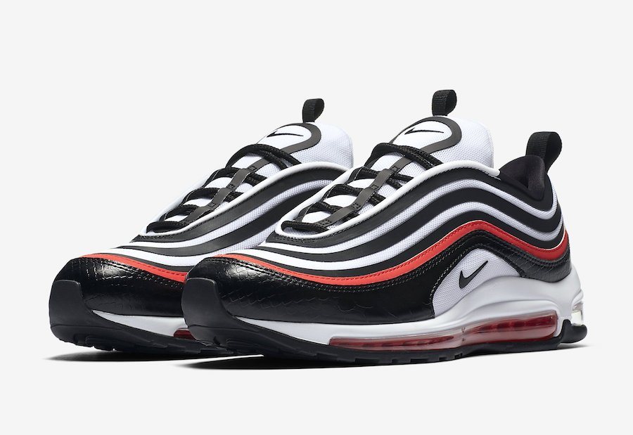 Nike Air Max 97 Ultra White Black Red AH6806-005